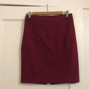 EUC Express maroon pencil skirt, size 6